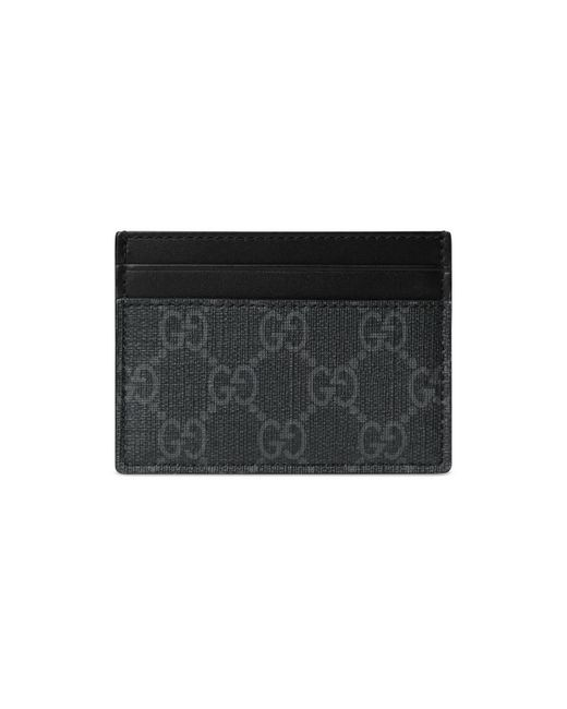 45b8533e4ccf Lyst - Gucci GG Card Case With Wolf Head in Black for Men - Save 16%