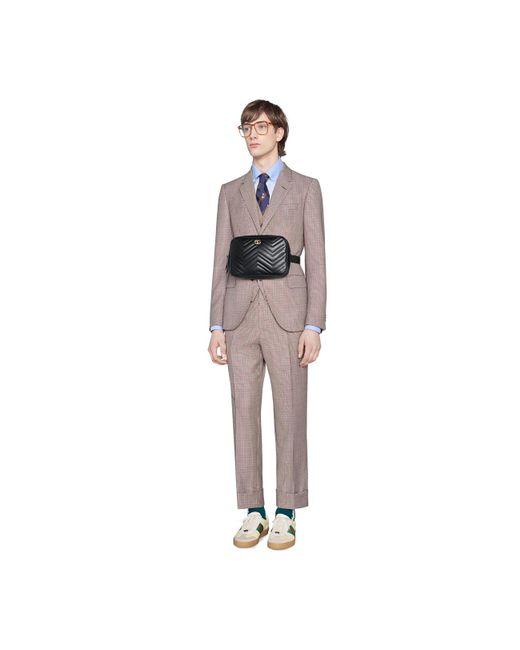 b82a91654f2 ... Gucci - Black Gg Marmont Matelassé Belt Bag for Men - Lyst ...
