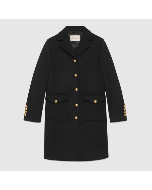 Gucci 【公式】 (グッチ)ダブルg ウール コートブラック ウールブラック Black
