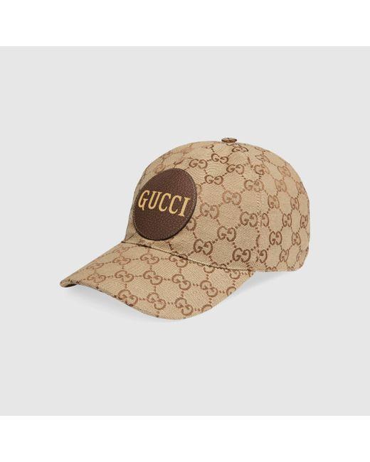 メンズ Gucci 【公式】 (グッチ)GGキャンバス ベースボールキャップベージュ/ブラウン GGキャンバスベージュ Natural