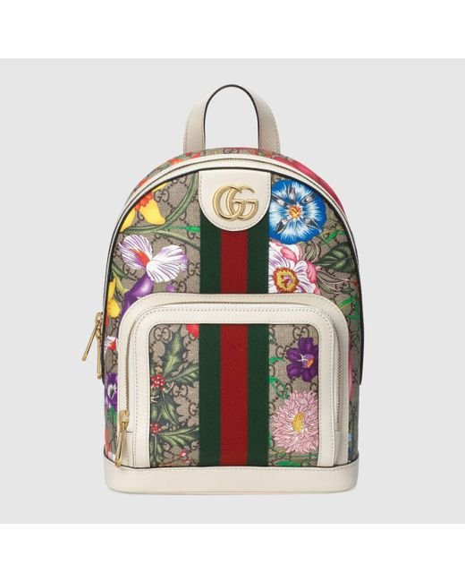 メンズ Gucci グッチ〔オフィディア〕GGフローラ スモール バックパック Multicolor