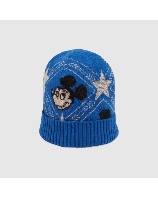 メンズ Gucci グッチdisney (ディズニー) X ウールジャカード ハット Blue