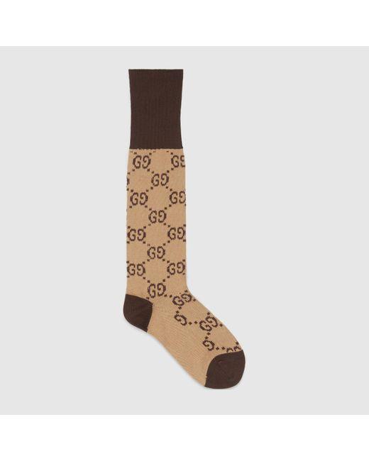 Gucci グッチGGパターン コットンブレンド ソックス Natural