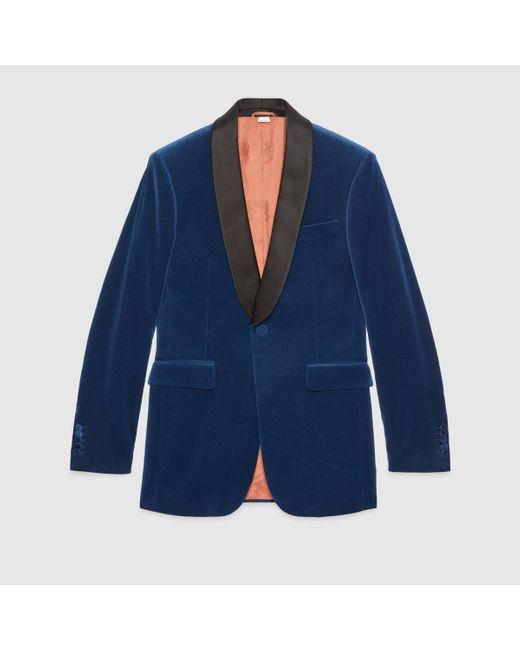 メンズ Gucci グッチベルベット ジャケット Multicolor