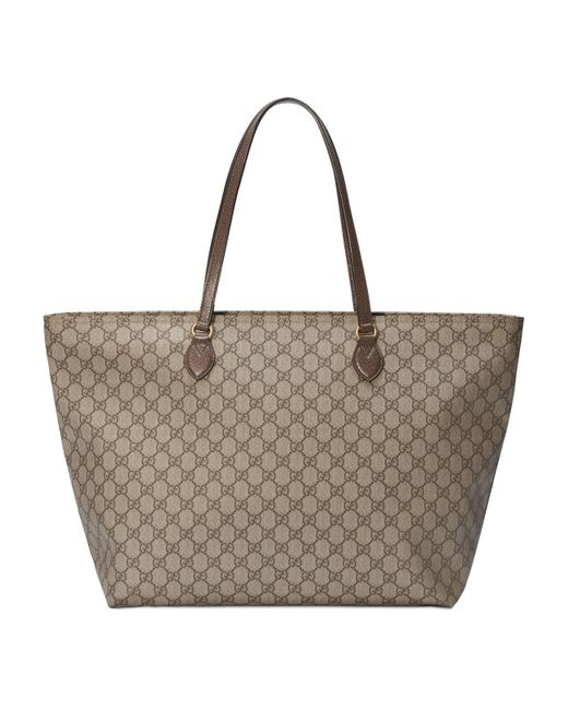 Gucci Brown Ophidia GG Medium Tote