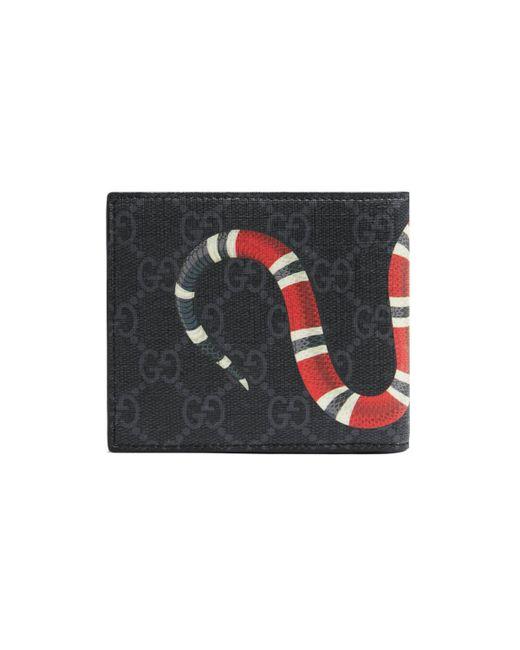 Monedero GG Supreme con Estampado Kingsnake Gucci de hombre de color Black