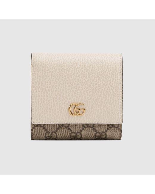 Gucci 【公式】 (グッチ)〔GGマーモント〕ウォレットホワイト レザーベージュ Natural