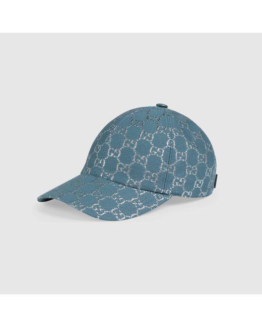 Gucci グッチ公式GGラメ ベースボールキャップライトブルー&ホワイトcolor_descriptionキャンバス Blue