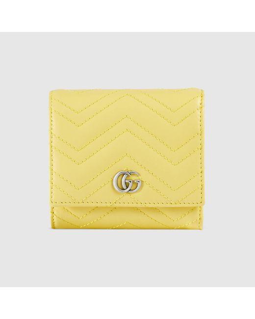 Gucci グッチ〔GGマーモント〕カードケース ウォレット Yellow