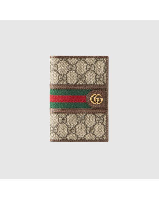 メンズ Gucci 〔オフィディア〕GGパスポートケース Natural
