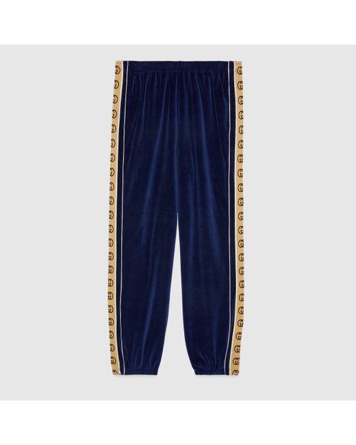 メンズ Gucci ルーズ シェニール ジョギングパンツ Blue
