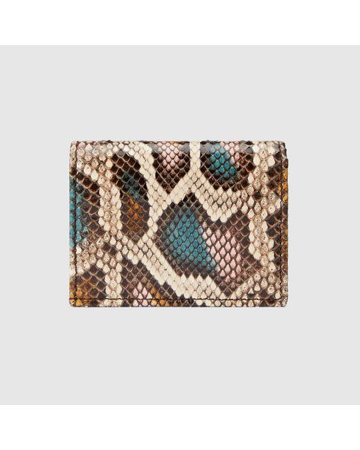 Gucci グッチ〔GGマーモント〕パイソン カードケース(コイン&紙幣入れ付き) Multicolor