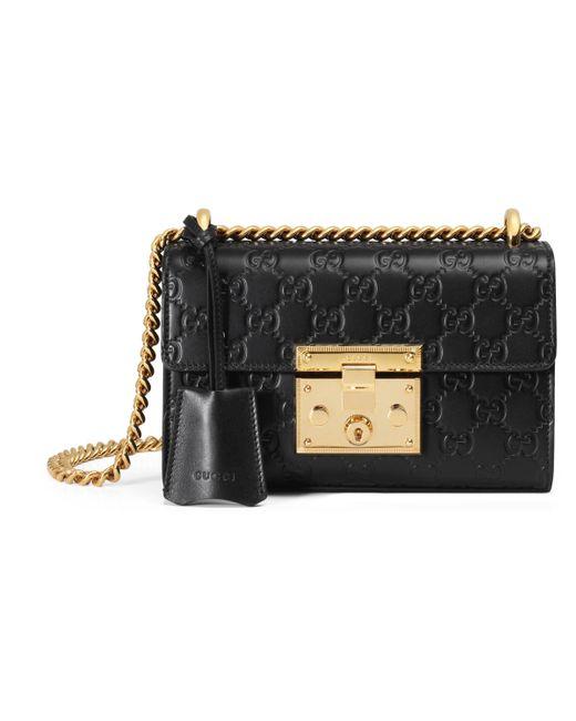 f736371f1882 Gucci - Black Padlock Small Signature Shoulder Bag - Lyst ...