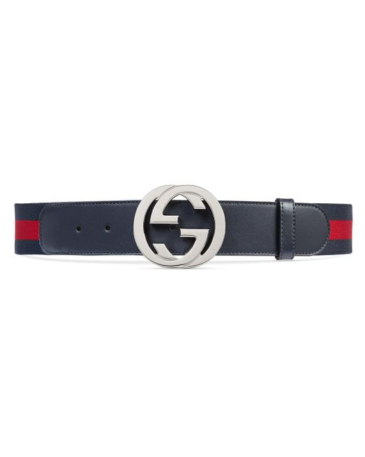 Gucci Blue Web Belt With G Buckle for men