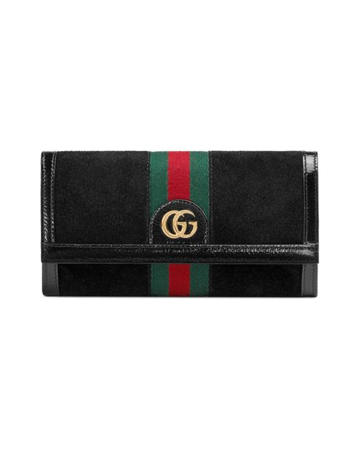 Gucci Black Ophidia Continental Wallet