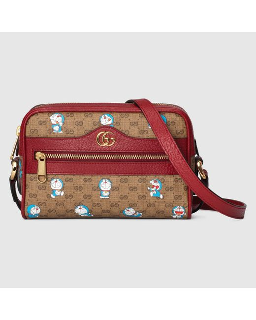 Gucci 【公式】 (グッチ)ドラえもん X ミニバッグ Detail 2ミニGGキャンバスベージュ Multicolor