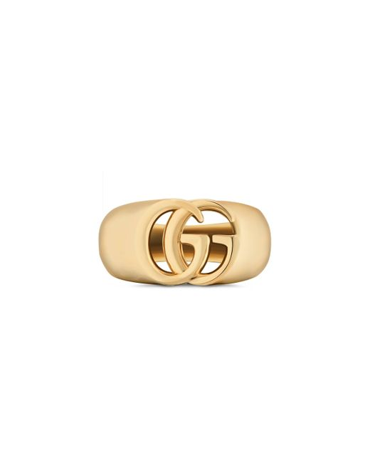 Gucci - Metallic GG Running Yellow Gold Chevalier Ring - Lyst