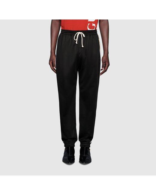 メンズ Gucci グッチルーズ テクニカルジャージー ジョギングパンツ Black