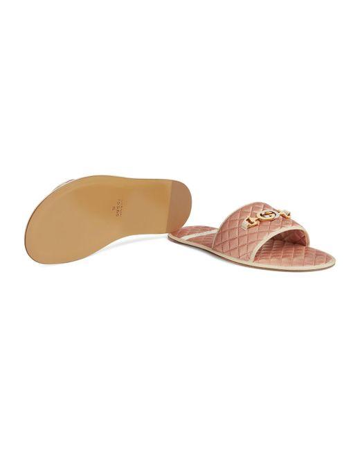 932755b2f25 ... Lyst Gucci - Pink Men s Slide Sandal With Interlocking G Horsebit for  Men ...