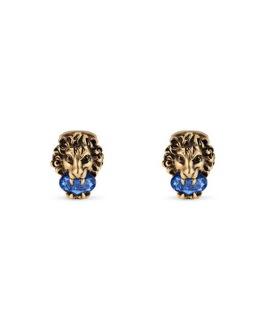Gucci Lion head cufflinks with crystals wzbkKQr
