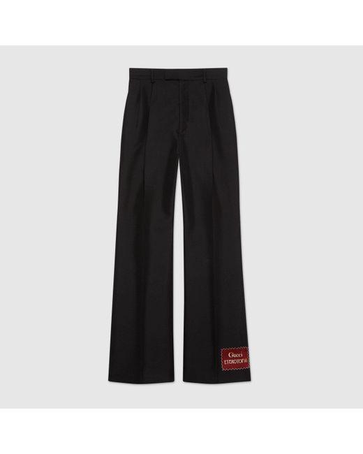 Gucci グッチ Eterotopia ウールモヘア パンツ Black