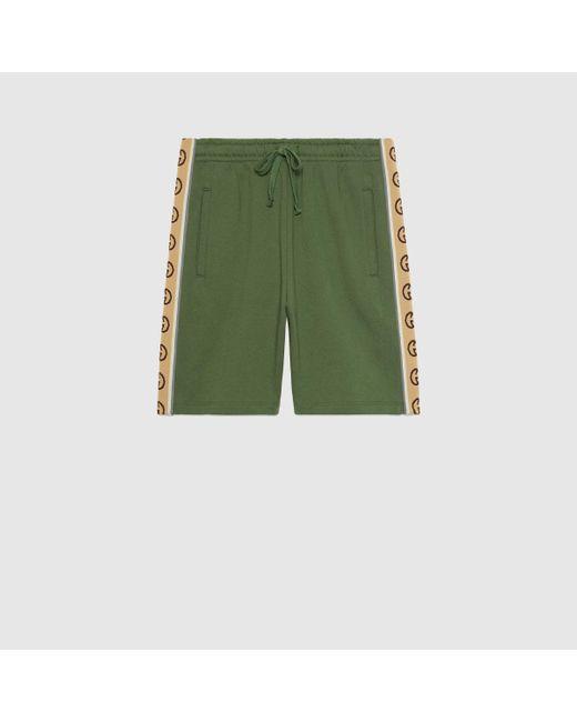 メンズ Gucci グッチコットンジャージー ショートパンツ Green