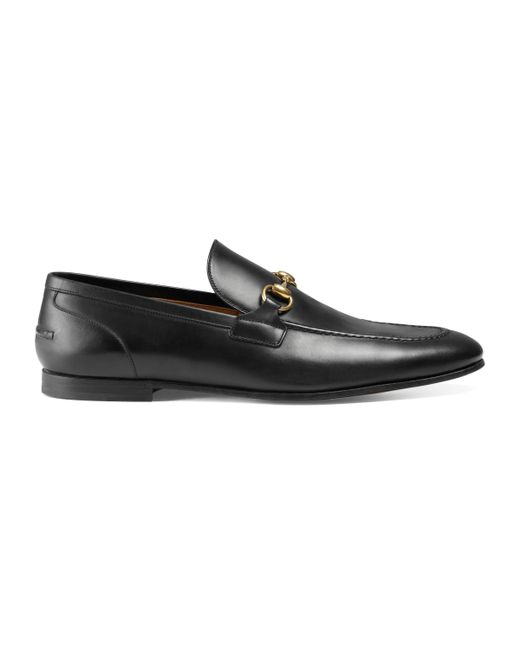 163f5586699 Gucci Jordaan Leather Loafer in Black for Men - Save 8% - Lyst