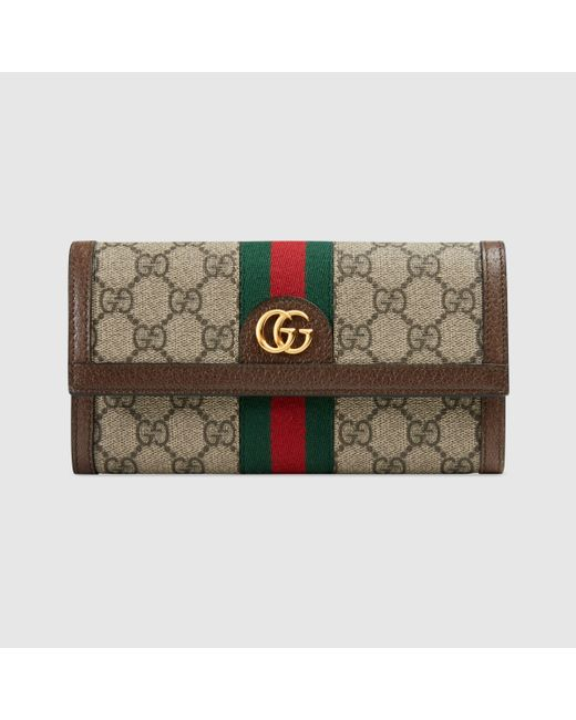 Gucci 【公式】 (グッチ)〔オフィディア〕GG コンチネンタルウォレットGGスプリームブラウン Brown