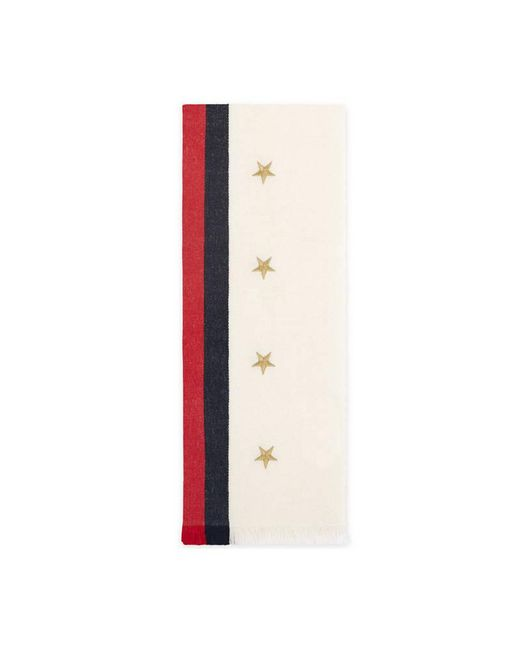 Gucci | Multicolor Web Wool Cashmere Scarf With Stars | Lyst
