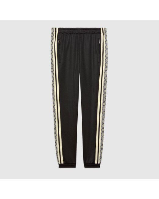 メンズ Gucci グッチオーバーサイズ テクニカルジャージー ジョギングパンツ Black