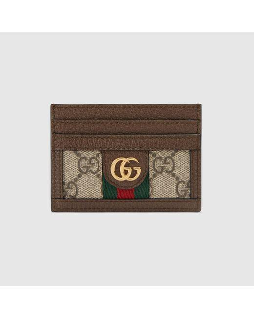 Gucci 【公式】 (グッチ)〔オフィディア〕GG カードケースGGスプリームブラウン Brown