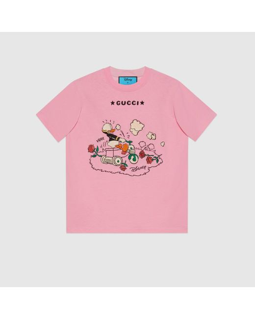 Gucci 【公式】 (グッチ)disney(ディズニー)x ドナルドダック Tシャツピンクピンク Pink