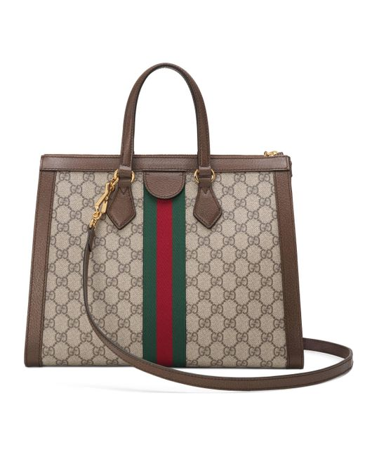 7ed9e26b6ec2 ... Gucci - Natural Ophidia GG Medium Tote Bag - Lyst