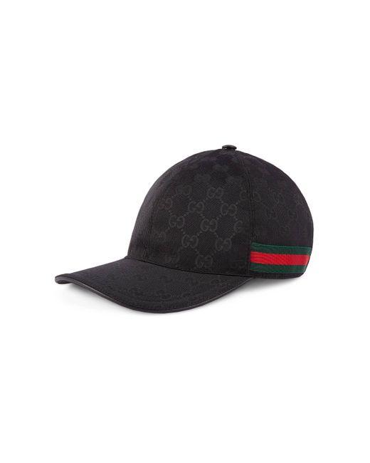 Gucci Baseball Cap mit Webstreifen in Black für Herren