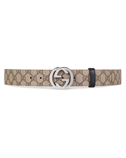 Gucci Natural Reversible GG Supreme Belt for men