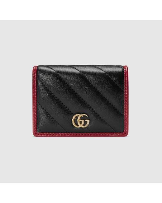 Gucci グッチ〔GGマーモント〕カードケース(コイン&紙幣入れ付き) Black