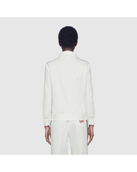 Gucci グッチジャージーピケ ジップアップジャケット White