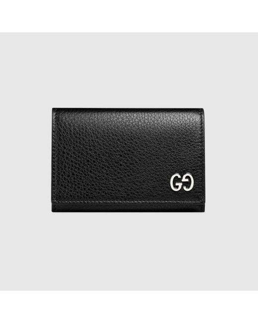 メンズ Gucci グッチレザーカードケース Black