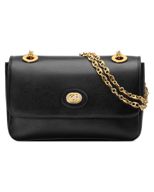 aefbed2e742d98 Gucci - Black Leather Small Shoulder Bag - Lyst ...