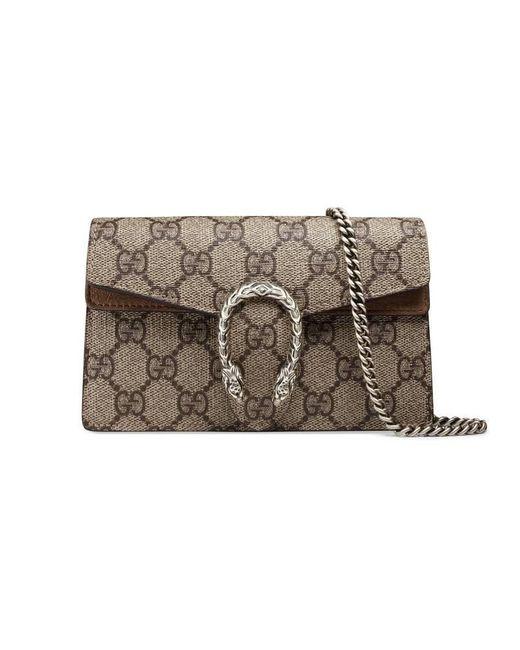 Gucci - Multicolor Beige Dionysus GG Supreme Super Mini Bag - Lyst