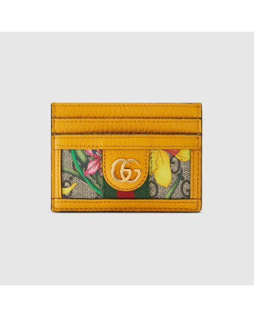 Gucci 〔オフィディア〕GGフローラ カードケース Natural