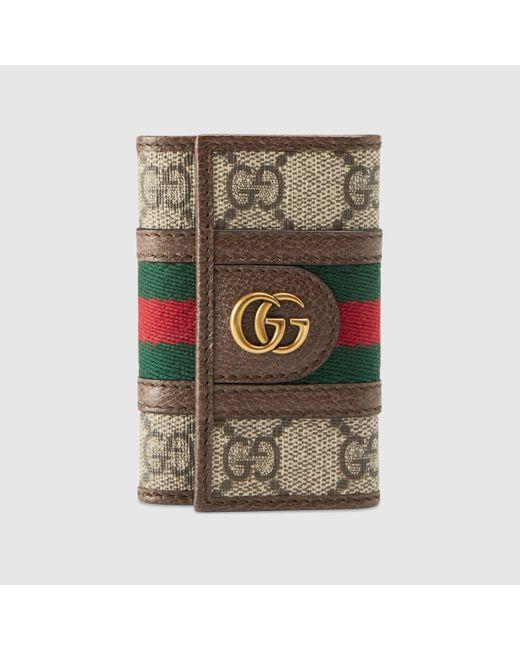 メンズ Gucci 【公式】 (グッチ)〔オフィディア〕GGキーケースGGスプリーム ベージュ Natural