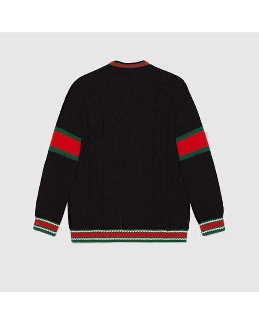 メンズ Gucci グッチdiy ユニセックス ウール セーター Black