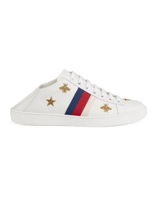 Gucci | White Ace Sneaker With Bees And Stars | Lyst