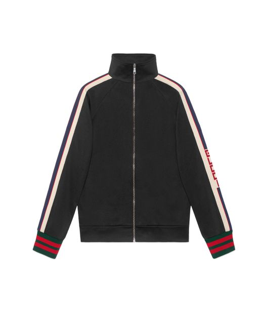 Gucci Black Technical Jersey Jacket for men