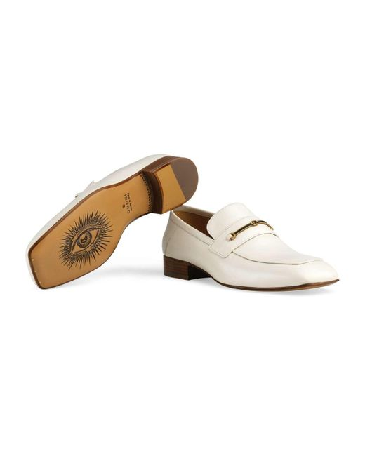 a1e8e99dc7c ... Gucci - White Leather Loafer With Horsebit And Double G for Men - Lyst  ...
