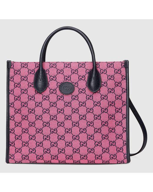 Gucci グッチGG マルチカラー スモール トートバッグ Pink
