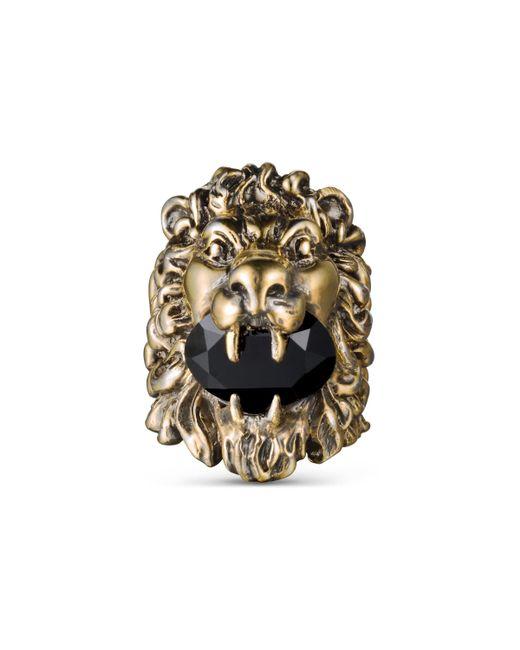Gucci - Multicolor Lion Head Ring With Swarovski - Lyst