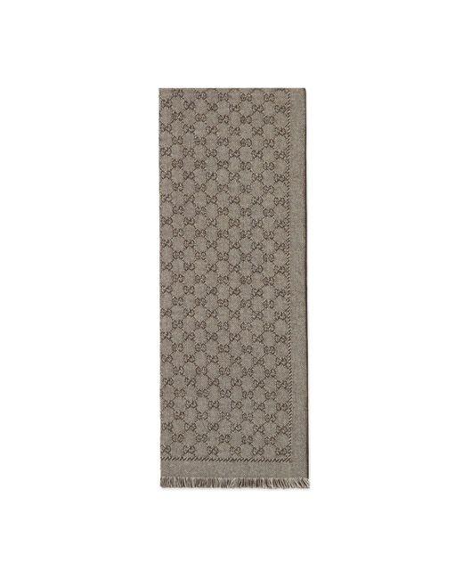 Gucci - Natural Écharpe en jacquard de laine GG for Men - Lyst