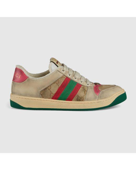 Gucci 〔スクリーナー〕ウィメンズ レザー スニーカー Multicolor